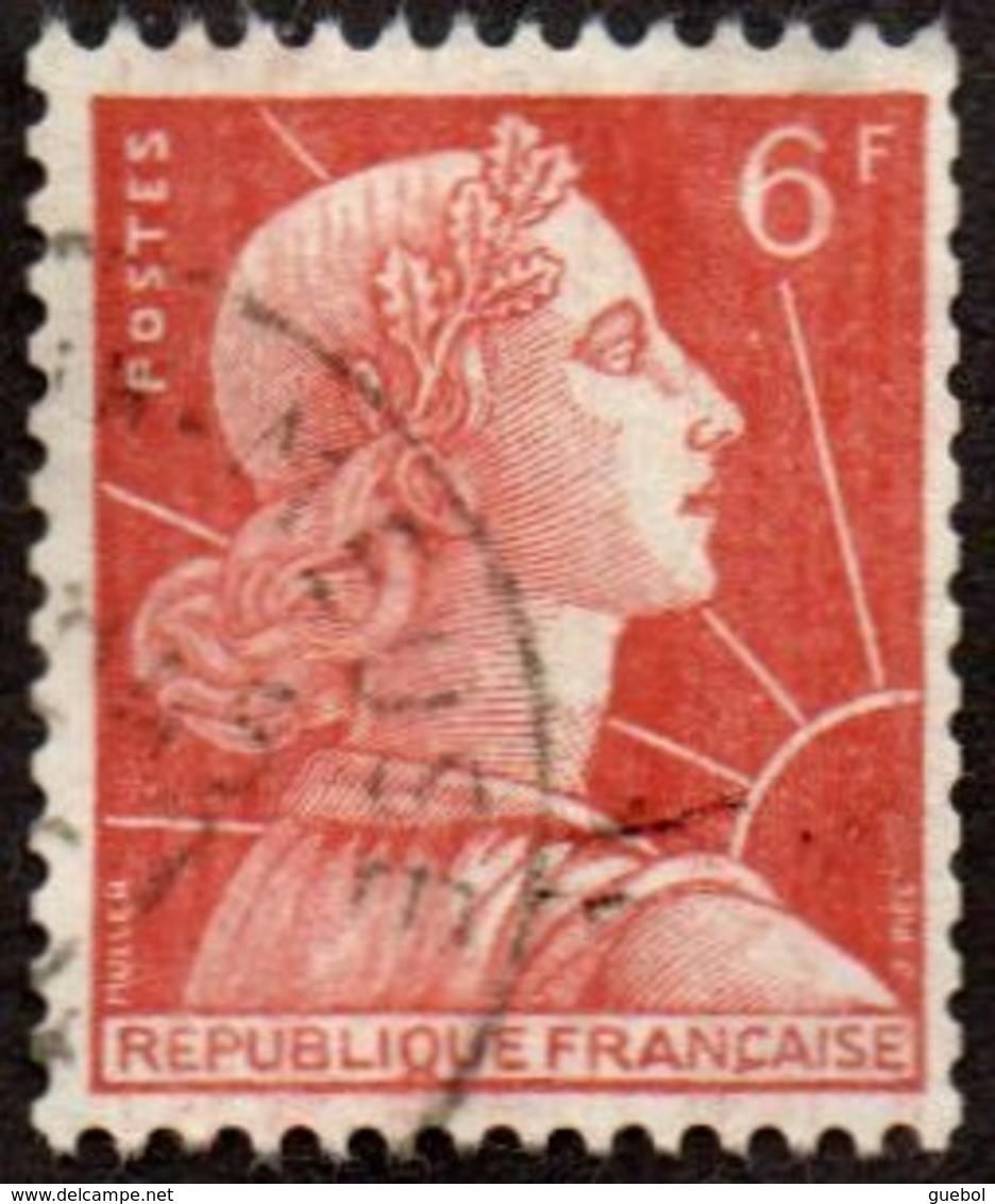 Oblitération Cachet à Date Sur Timbre De France N° 1009 A - Marianne De Muller 6fr Brun-orange - Roulette - Gebraucht