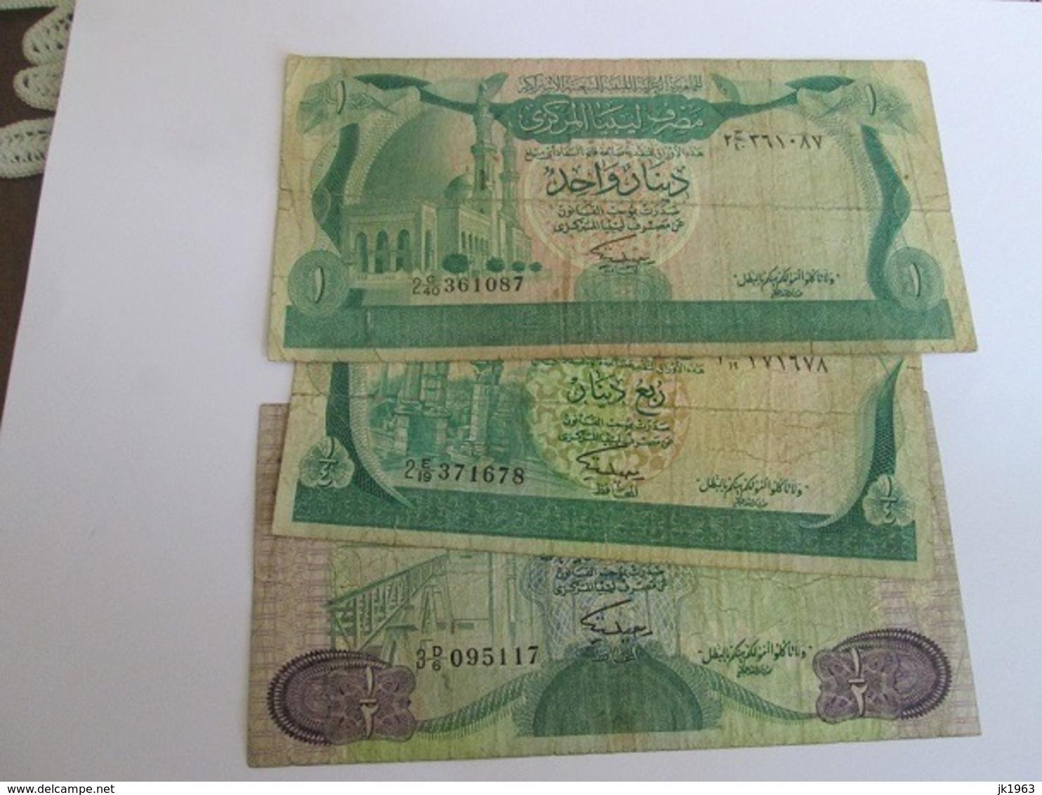 LIBYA ONE QUARTER, ONE HALF AND ONE DINAR 1981 - Libya