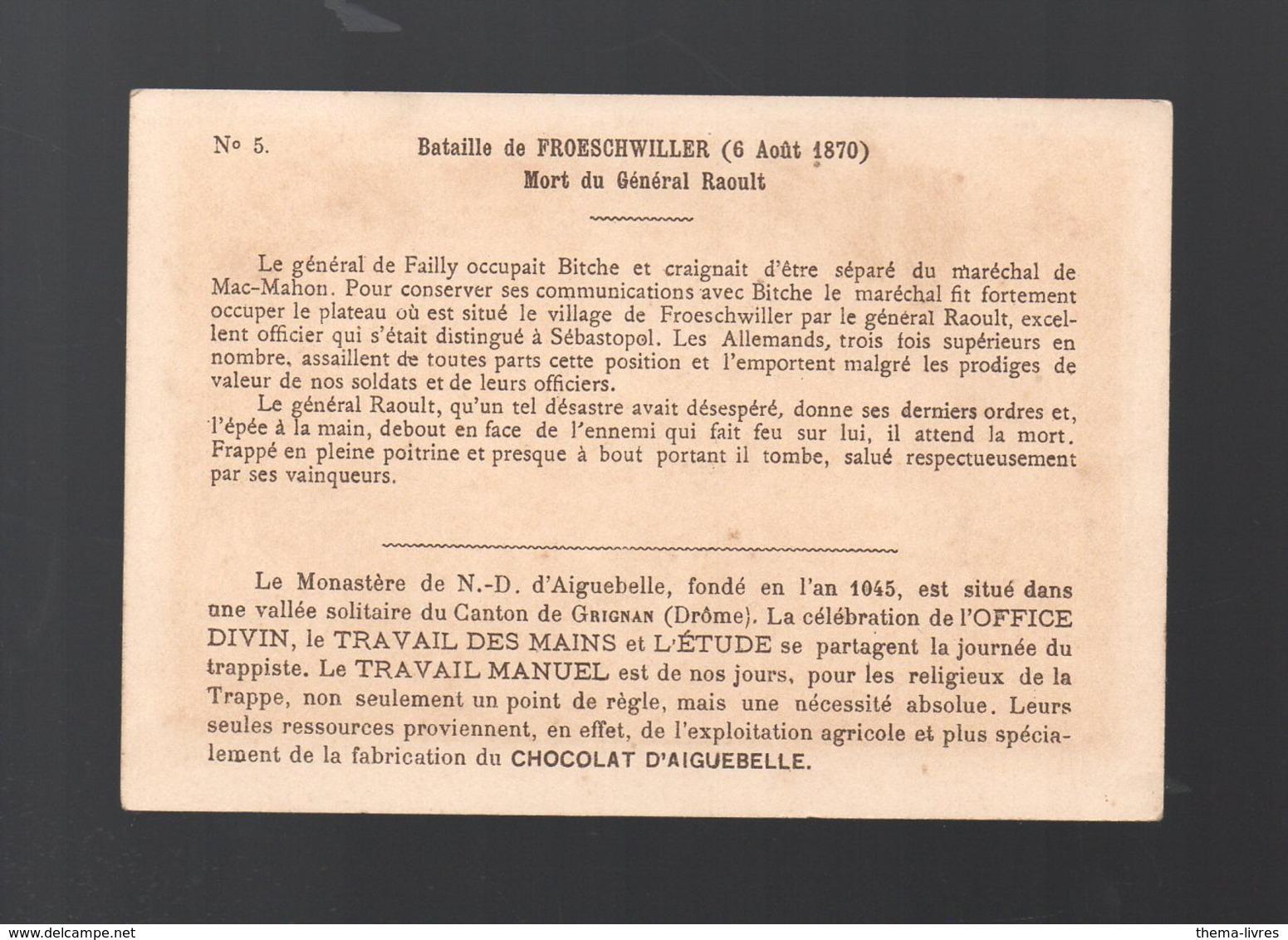 Froeschwiller (67) Chromo AIGUEBELLE :mort Du Général Raoult    (PPP20748) - Aiguebelle