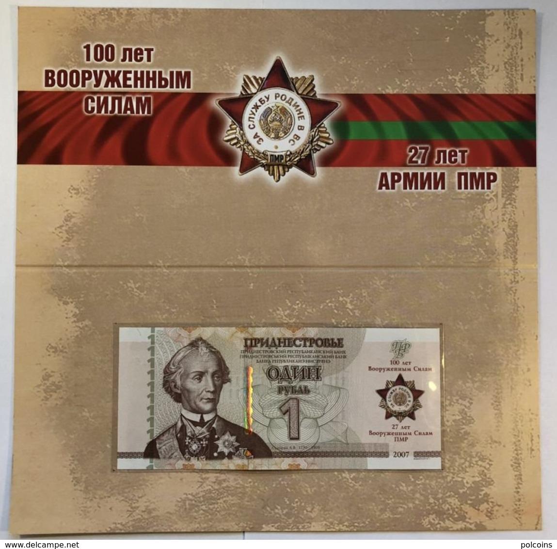 Transnistria 2018 - 1 Ruble - Armed Forces - Pick NEW UNC Booklet - Bankbiljetten