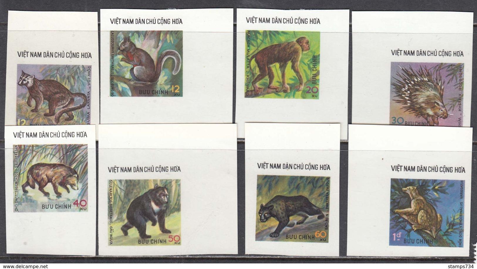 Vietnam 1976 - Wildlife Animals, Mi-Nr. 843/50, Imperforated, MNH** - Vietnam