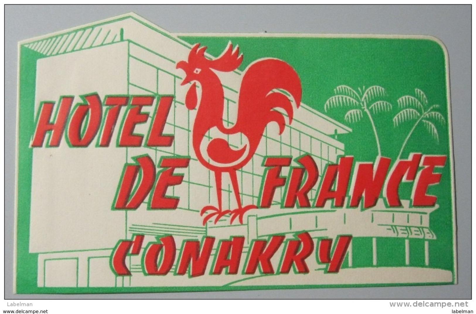HOTEL AUBERGE MOTEL ONAKRY PARIS FRANCE DECAL STICKER VINTAGE LUGGAGE LABEL ETIQUETTE AUFKLEBER - Etiketten Van Hotels