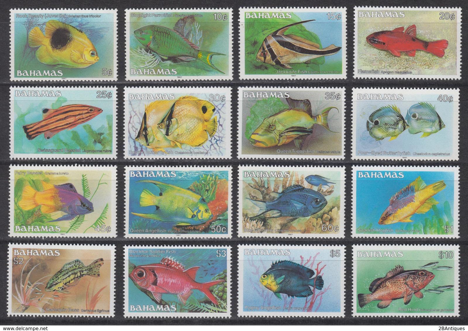 BAHAMAS 1986 - Fish COMPLETE SET MNH** XF - Bahamas (1973-...)