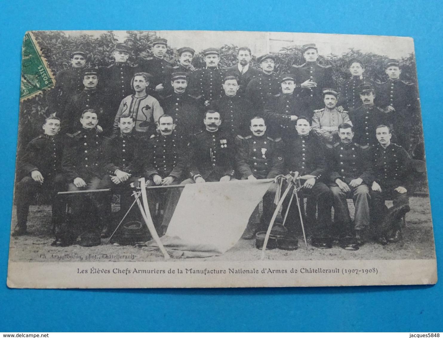 86 )  Chatellerault - Les élèves Armuriers De La  Manufacture Nationale D'armes ; Année 1907/1908- EDIT - Arambourou - Chatellerault