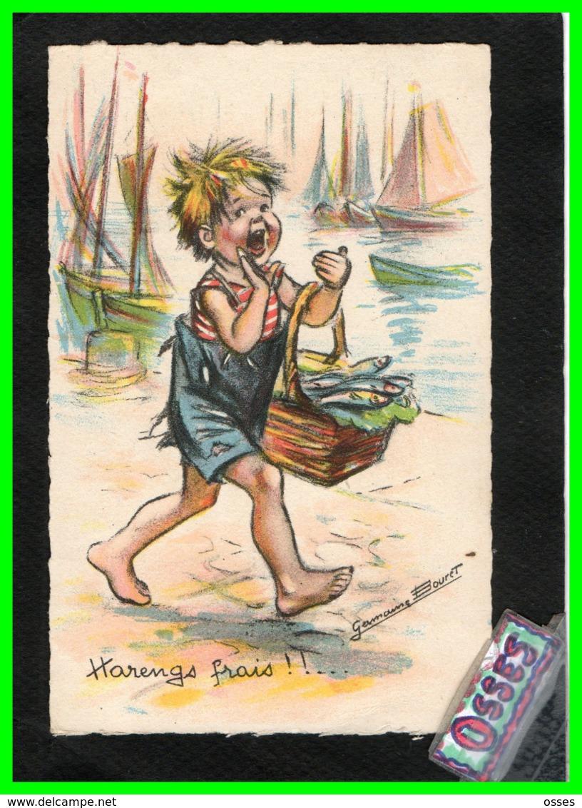 Germaine Bouret - Harengs Frais !! Correspondance1943 - Künstlerkarten