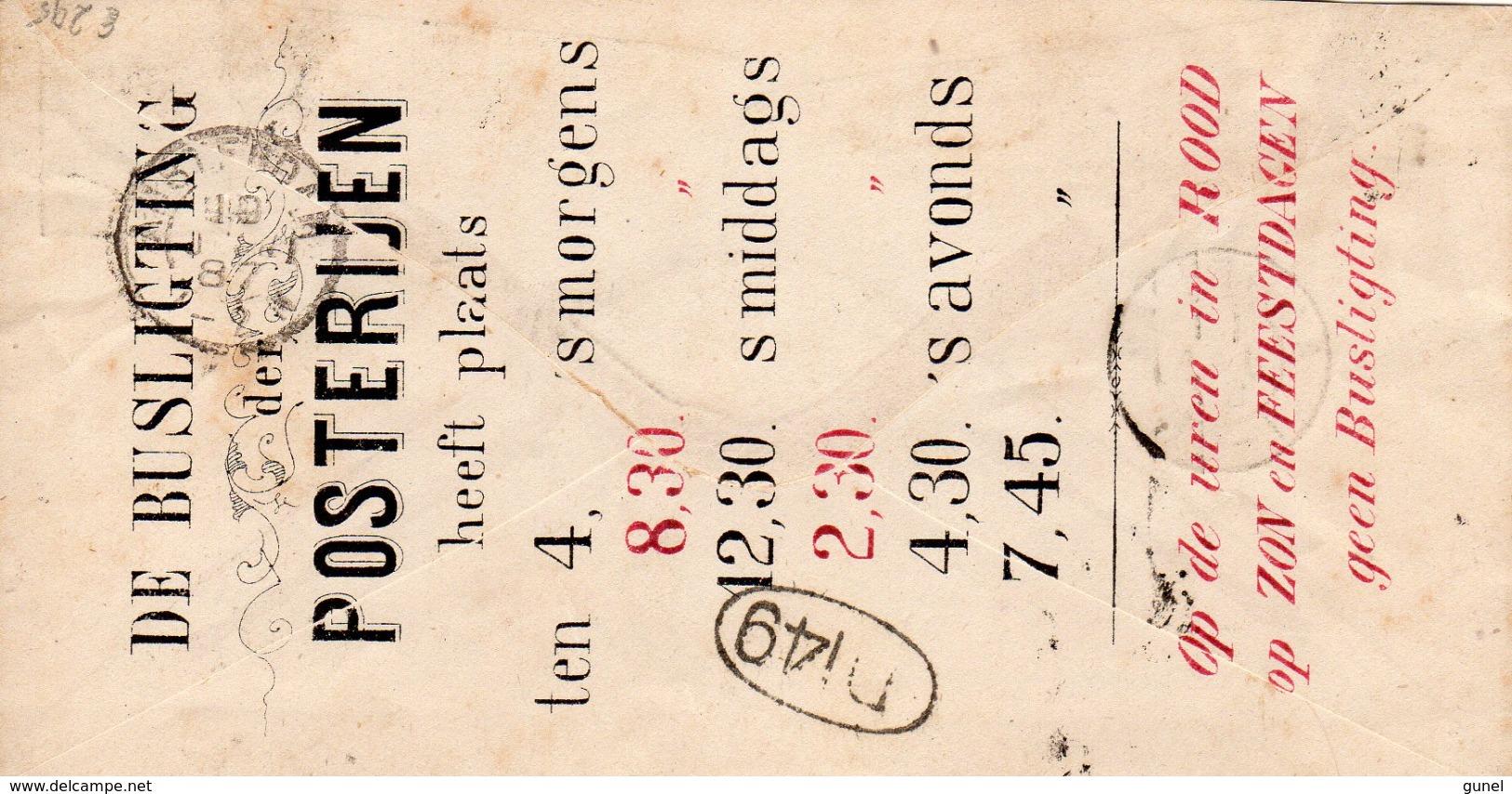 19 JAN 87 Envelop G1 PARTICULIER Bedrukt HOF-APOTHEEK Met Busligtingen Op Achterzijde - Postwaardestukken