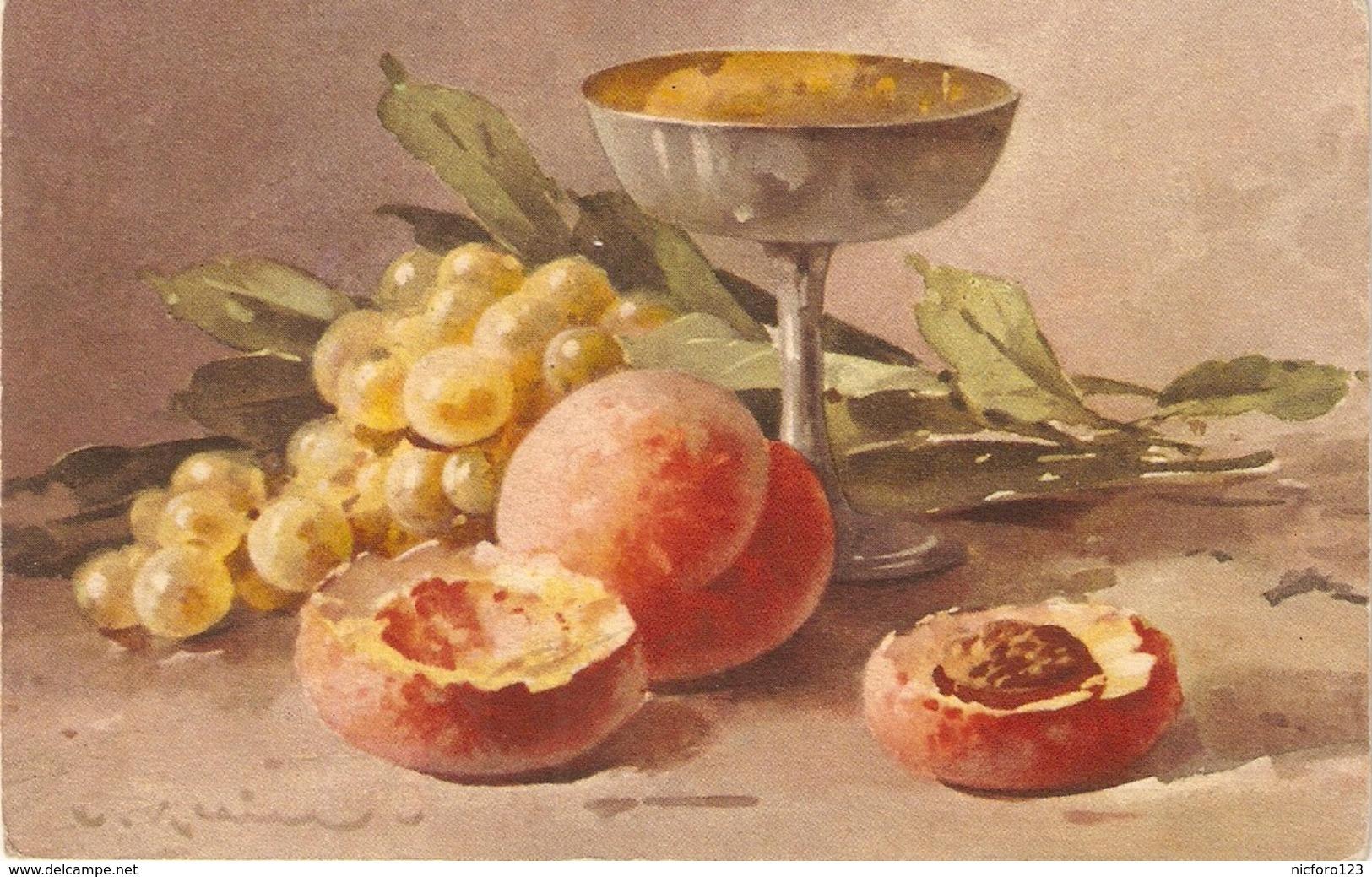 """Catharine Klein. Fruits. Fruitbowl""  Nice Vintage Swiss Postard - Klein, Catharina"