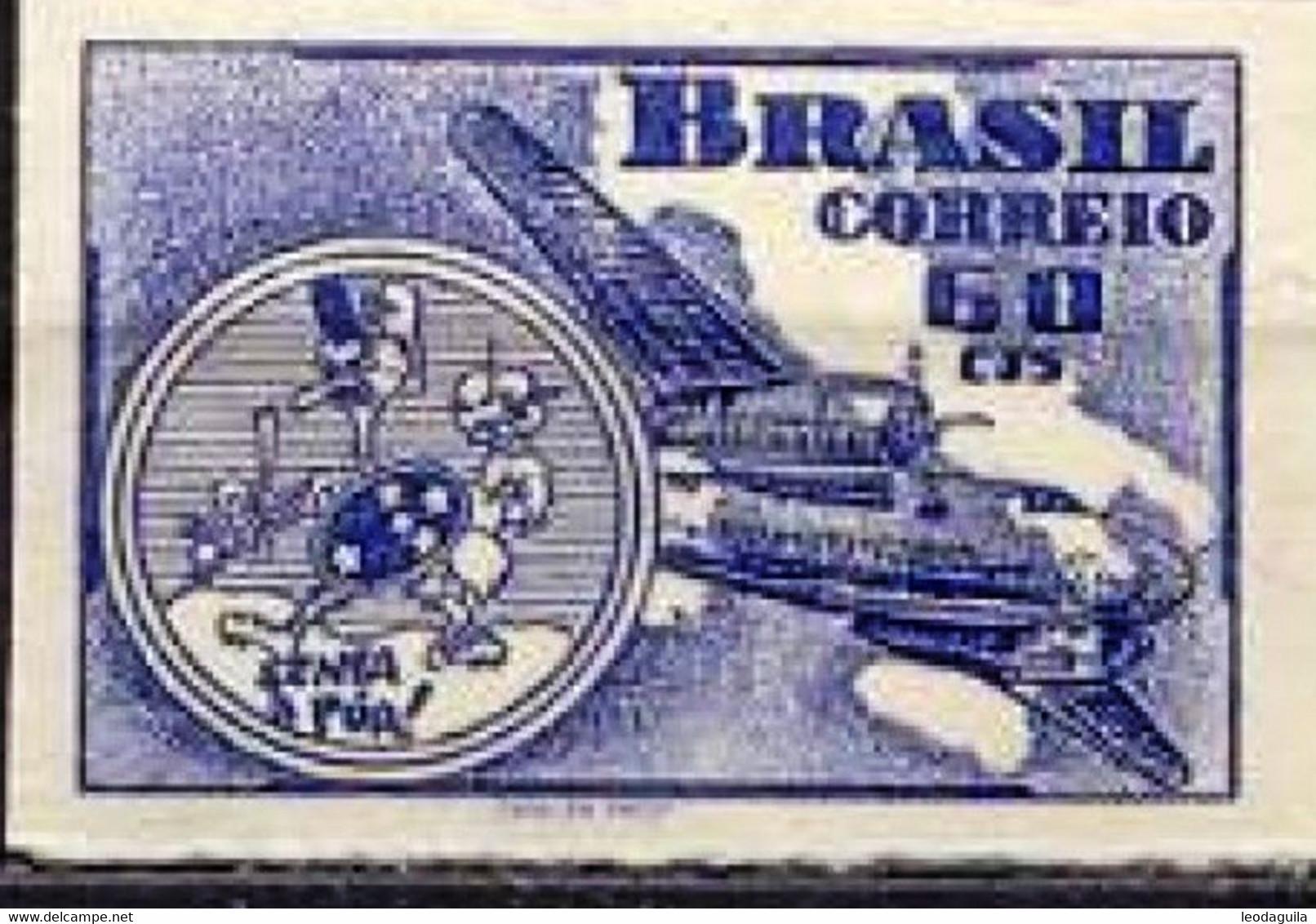 BRAZIL #RAB1 -  AVIATION WEEK  -  ICARUS  -  1947  OG MINT - Unused Stamps