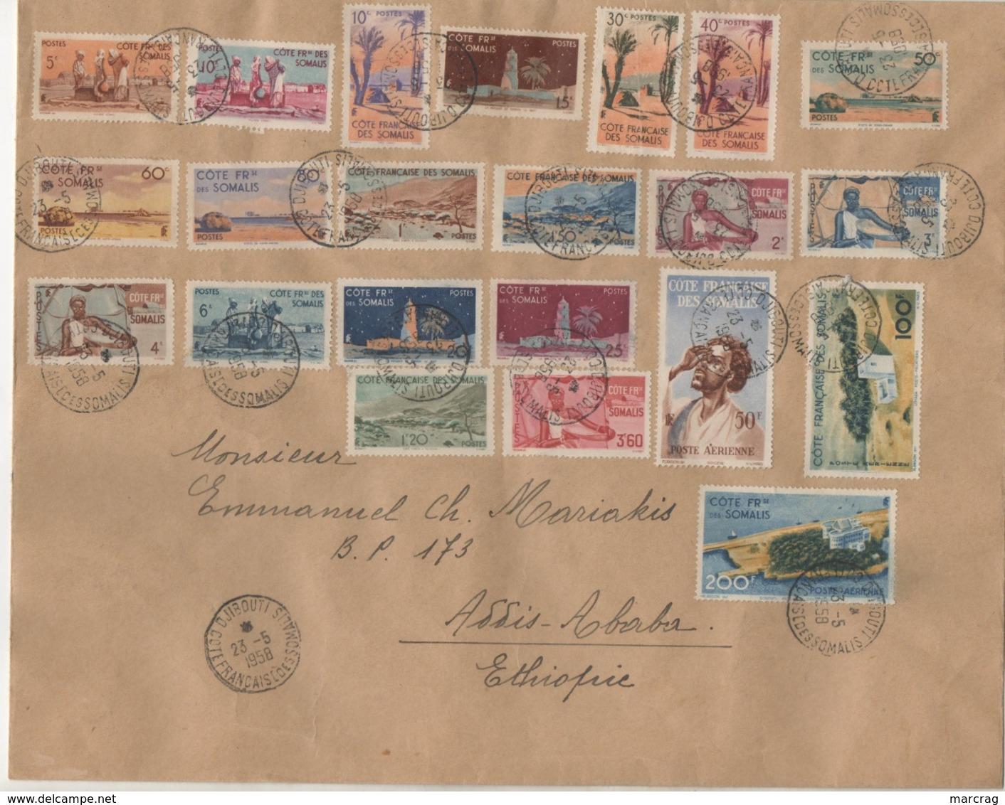 LETTRE DE 1958 POUR ASSIS -ABABA ETHIOPIE - Lettres & Documents