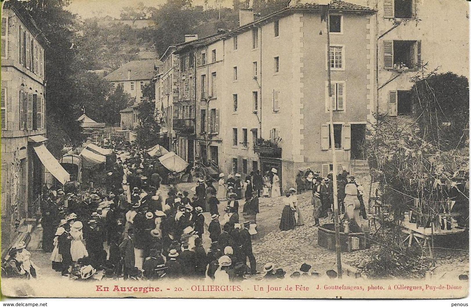 OLLIERGUES  Un Jour De Fête - Olliergues