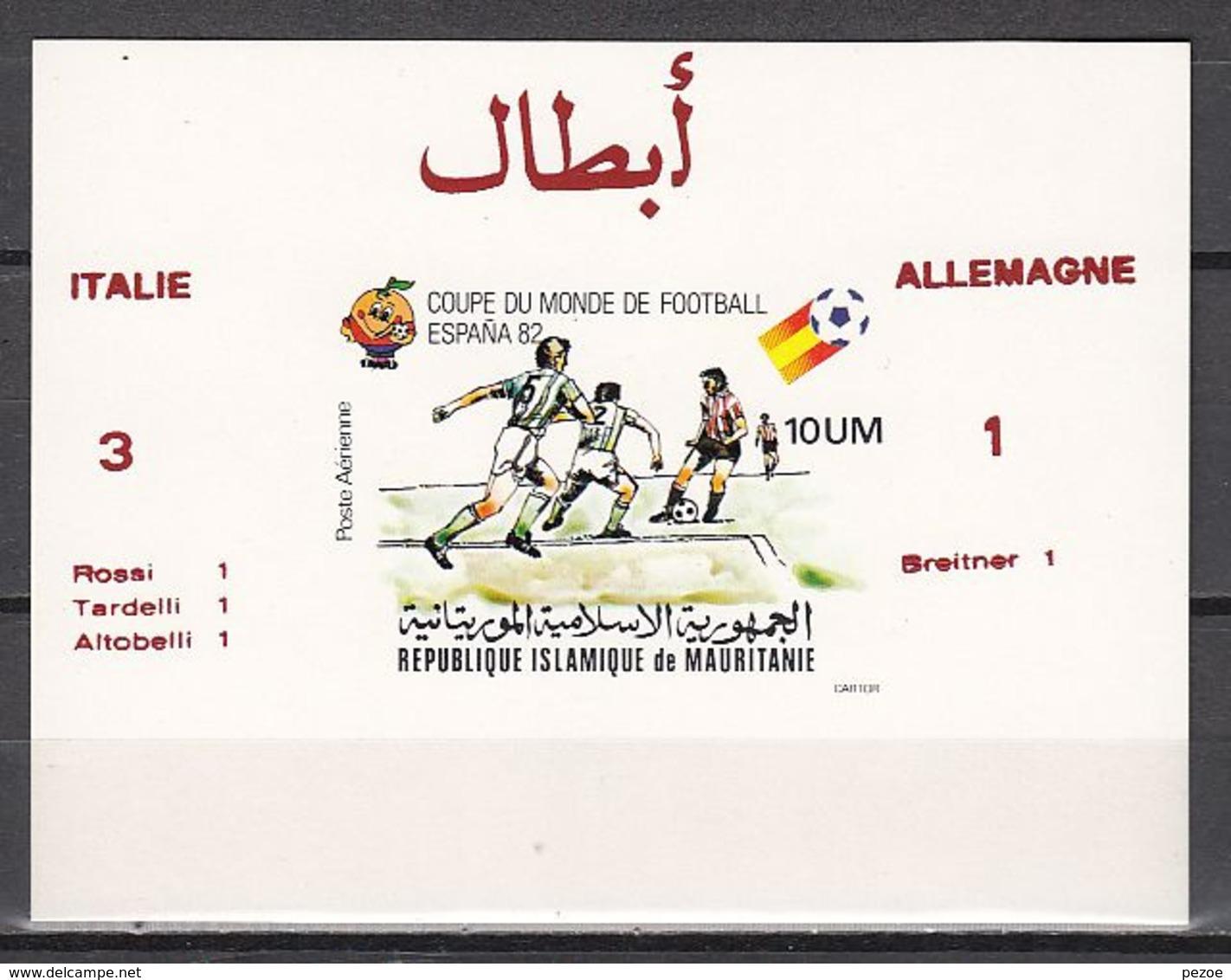 Football / Soccer / Fussball - WM 1982:  Mauretanien  SoBl **, Imperf. - Coppa Del Mondo