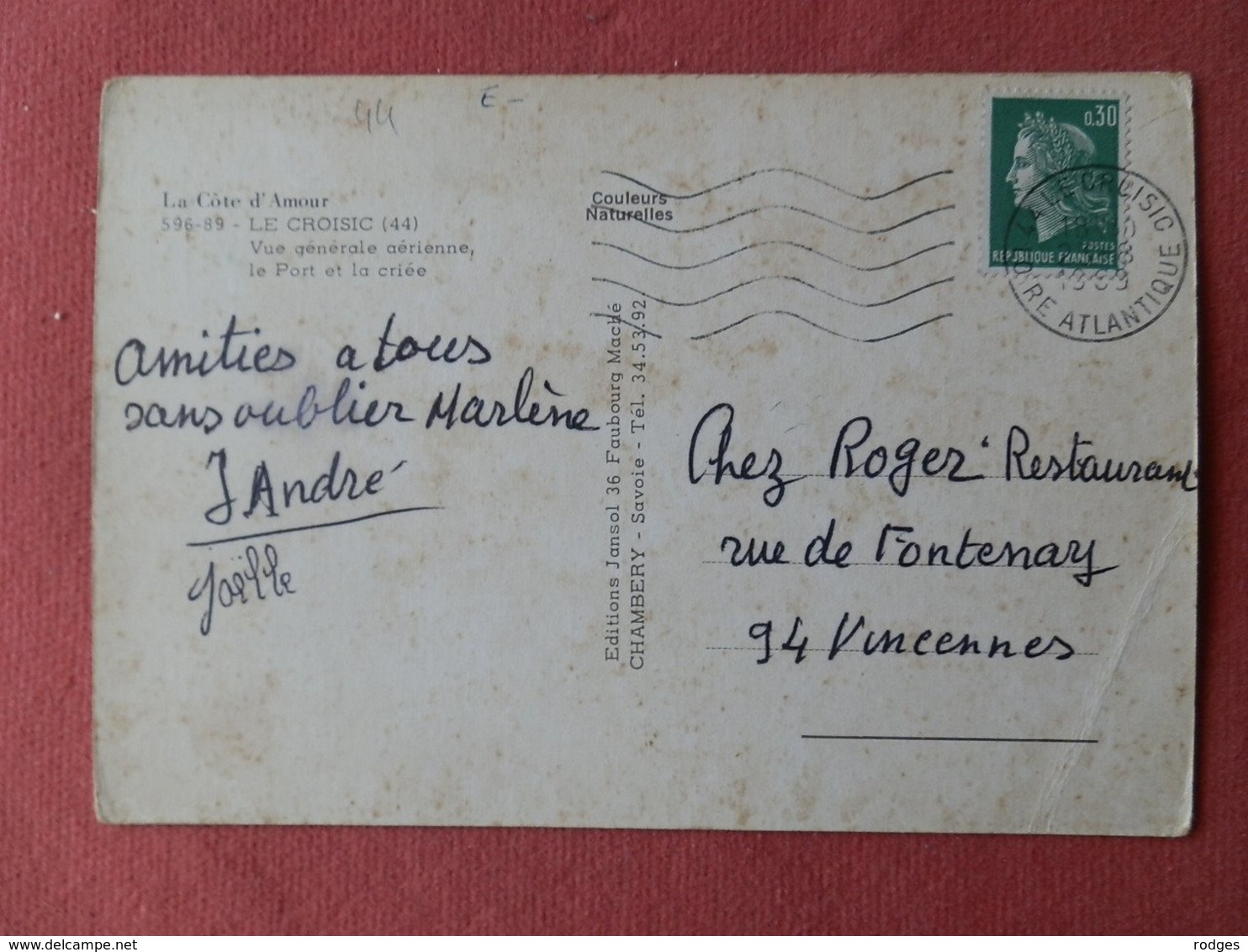 Dep 44 , Cpm Le CROISIC , 596-89 , Vue Générale Aérienne , Le Port Et La Criée (139) - Le Croisic