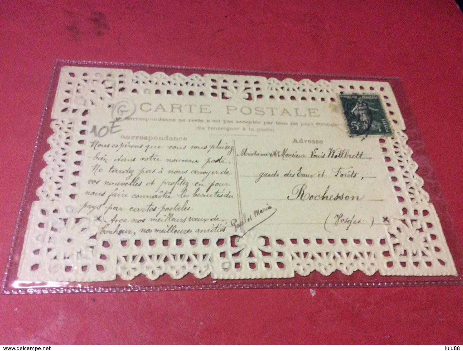 TAINTRUX. Carte Fantaisie  Dentelle Année 1912. RARE - Andere Gemeenten