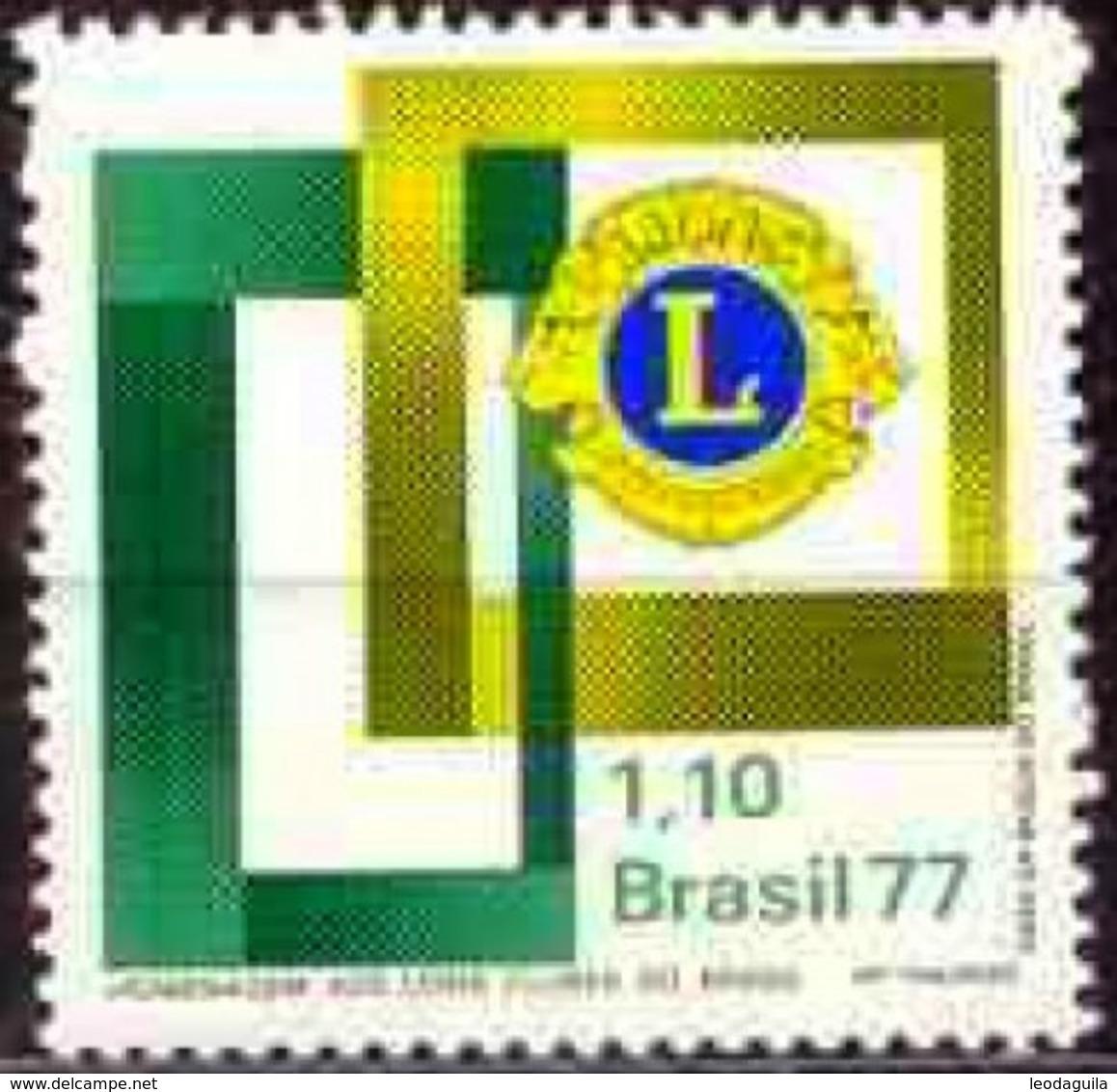 BRAZIL #1499  - LYONS CLUB OF BRAZIL   -  1977  MINT - Unused Stamps