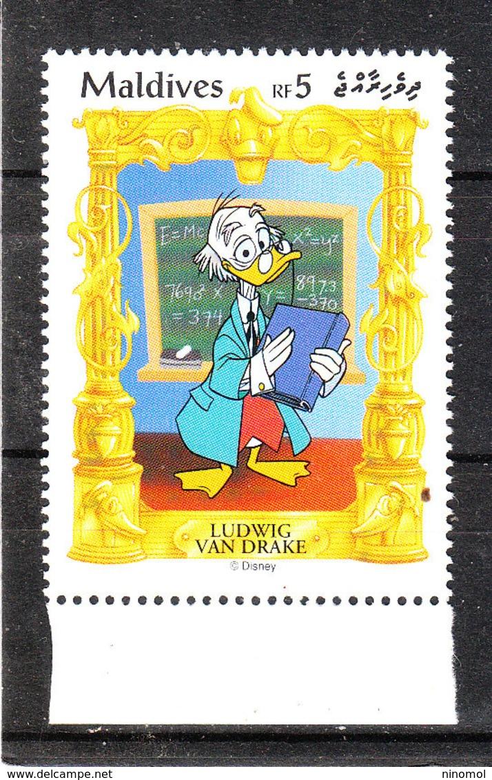 Maldive - 1990. Pico De' Paperis. Ludwig Van Drake. MNH - Disney
