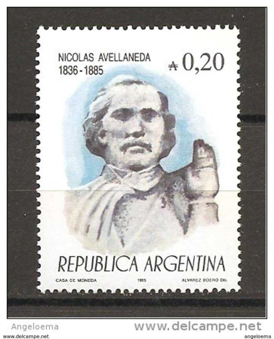 ARGENTINA - 1985 NICOLAS AVELLANEDA Presidente Argentino Nuovo** MNH - Celebrità
