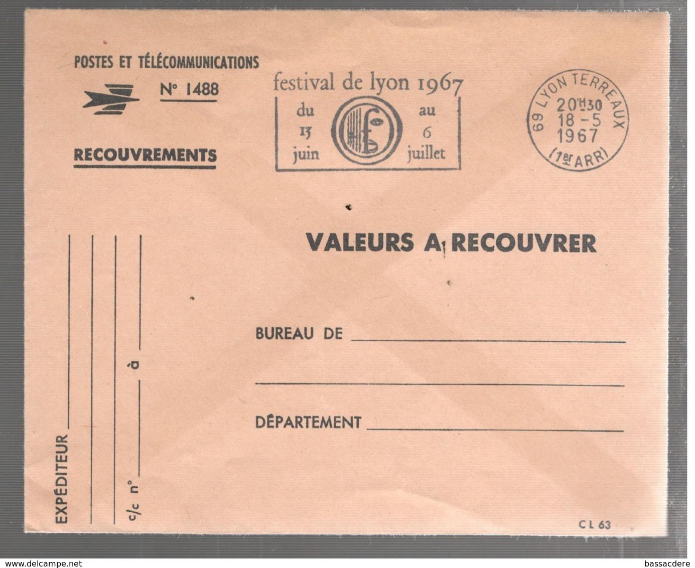 23593 - FESTIVAL DE LYON  67 - Marcofilie (Brieven)