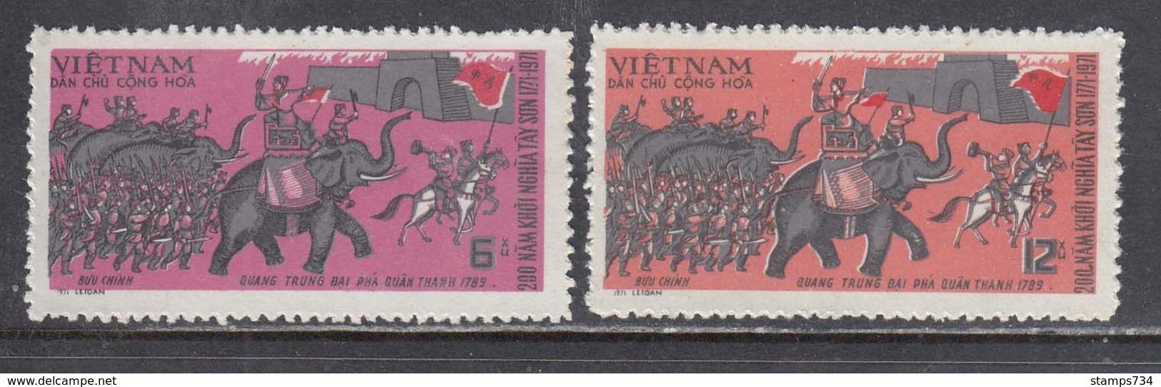 Vietnam Nord 1971 - 200th Anniversary Of The Uprising Of Tay Son, Mi-Nr. 655/56, MNH** - Vietnam