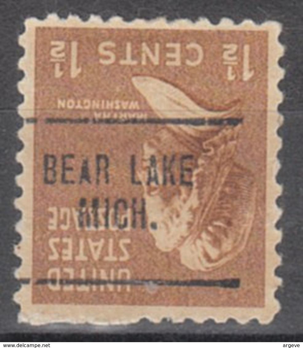 USA Precancel Vorausentwertung Preo, Locals Michigan, Bear Lake 704 - Vorausentwertungen