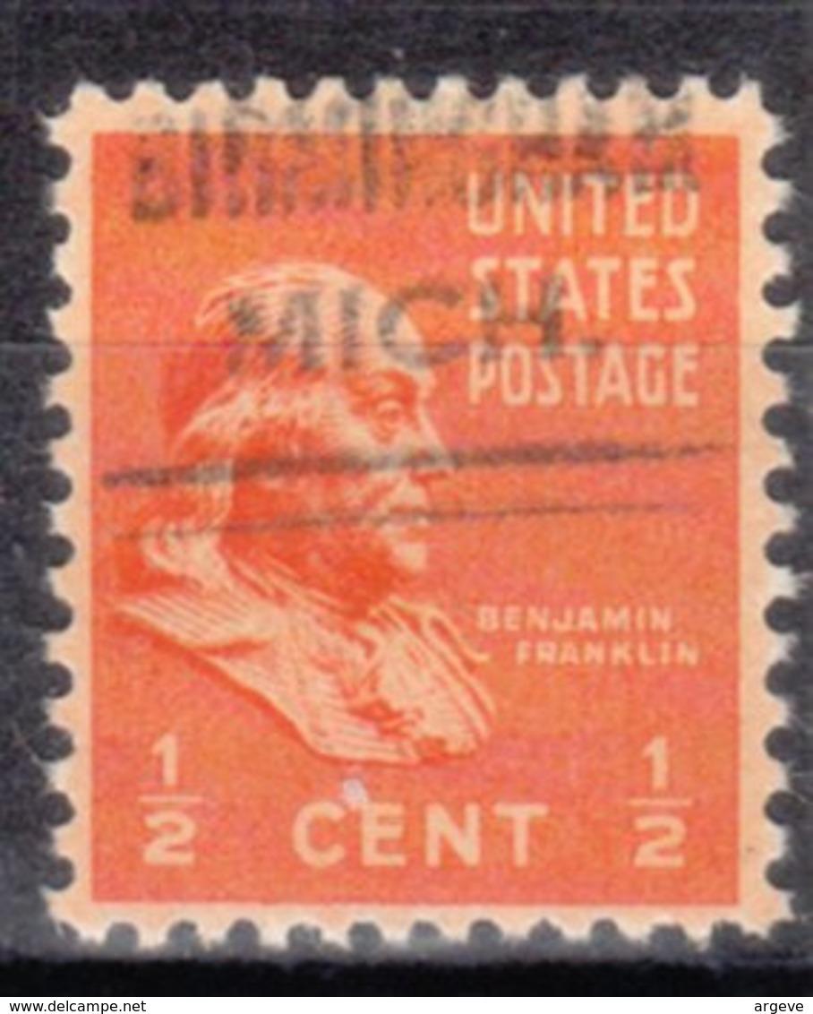USA Precancel Vorausentwertung Preo, Locals Michigan, Birmingham 632 - Vereinigte Staaten