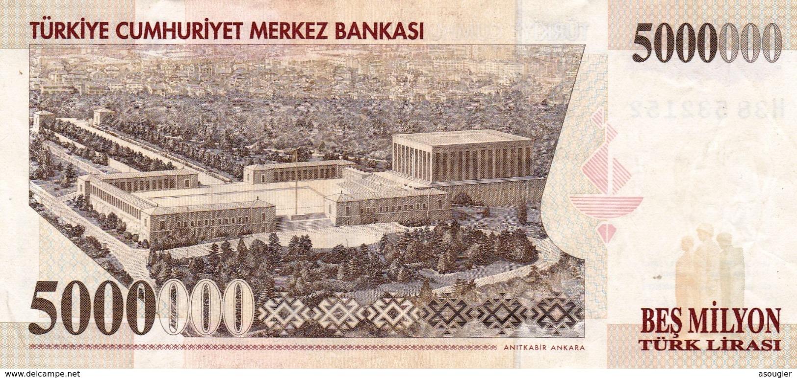 "TURKEY 5000000 LIRA 1997 EXF P-210 ""free Shipping Via Regular Air Mail (buyer Risk)"" - Turkije"