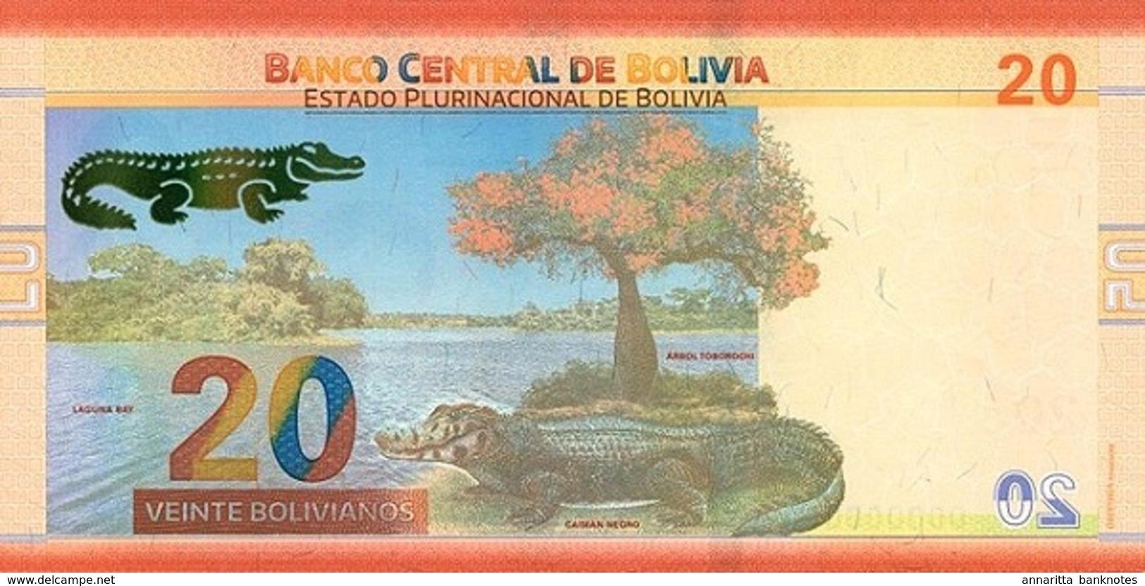 BOLIVIA 20 BOLIVIANOS L.1986 (2018) P-249a UNC [BO249a] - Bolivia