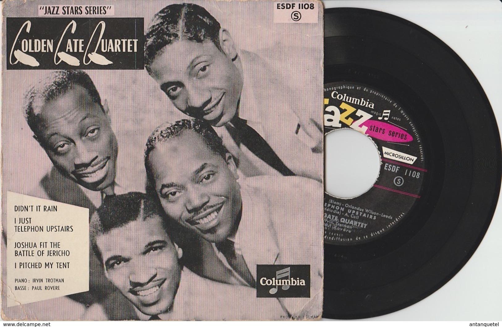 Disque Vinyle 45 Tours—Golden Gate Quartet—Didn't It Rain—ESDF 1108—'60 - 45 Rpm - Maxi-Singles