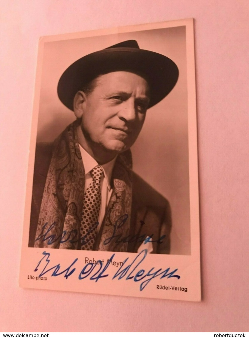 Robert Meyn Hand Signed Photo Autograph 10x15 Cm - Fotos Dedicadas