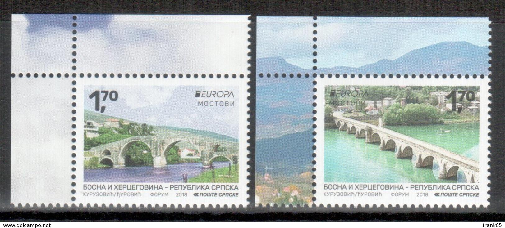 Bosnien-Herzegowina (serbisch) / Bosnia-Herzegowina (serbian Post) / Bosnie-Herzégovine 2018 Satz/set EUROPA ** - 2018
