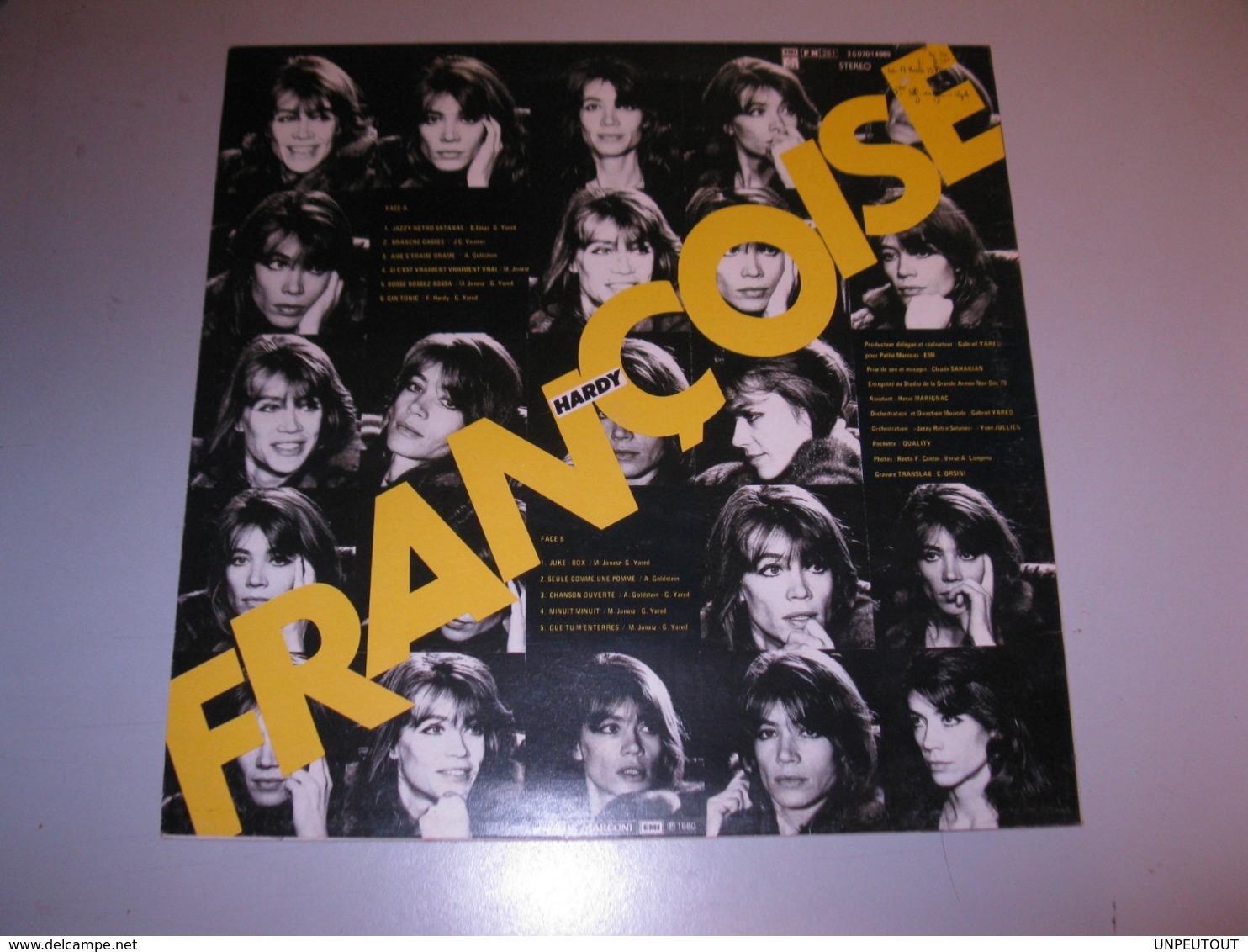 """VINYLE FRANCOISE HARDY """"GIN TONIC"""" 33 T PATHE / EMI (1980) - Vinyl Records"""