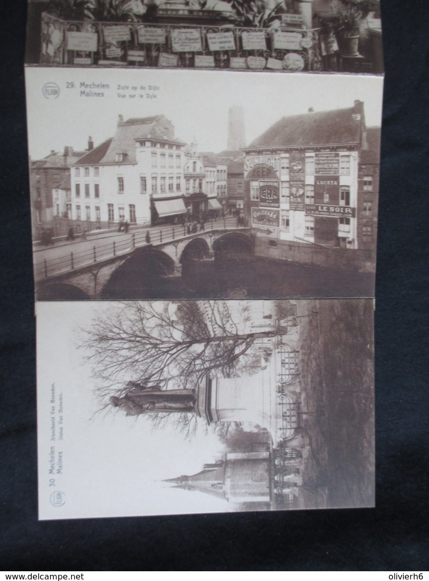 CARNET 10 CP (M1915) MECHELEN MALINES (8 Vues) Neckerspoelstatie Gare De Neckerspoel * Bailles De Fer Ijzeren Leen - Mechelen