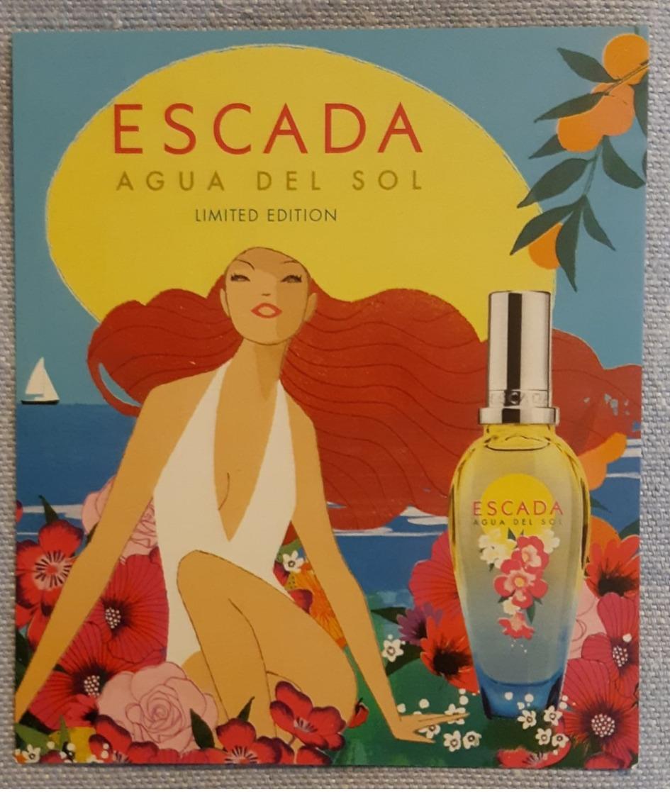 Escada Aqua Del Sol 10X10 Carta Profumata - Modern (from 1961)