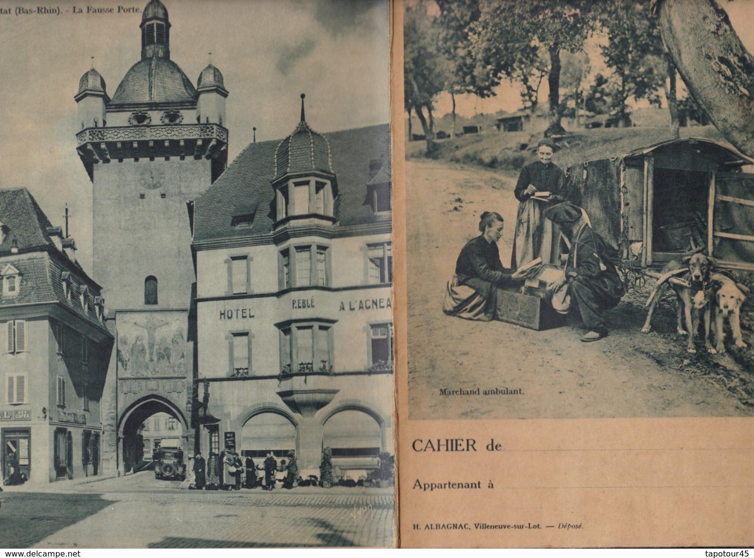 """L I/ Protège-cahiers Illustrés >  """"L'Inédit"""" Marchand Ambulant, (Exceptionnel Roulotte à Chiens)  (N= 1) - Protège-cahiers"""