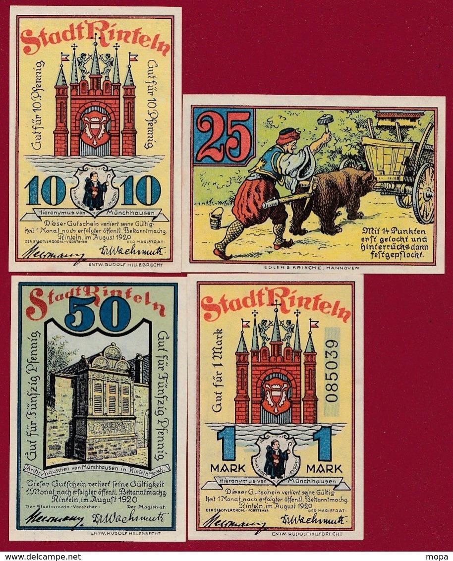 Allemagne 4 Notgeld   Stadt Rinteln (RARE -SERIE COMPLETE)   Dans L 'état N )32 - Collections