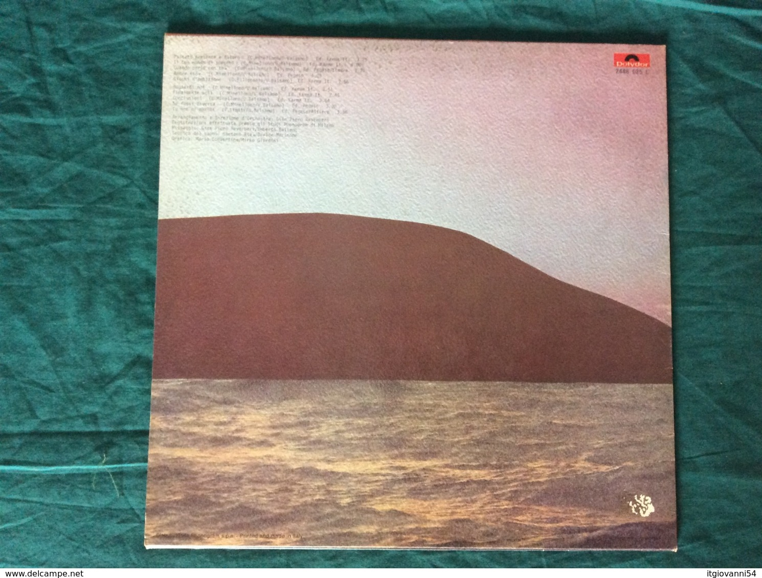 "LP Umberto Balsamo ""Passato, Presente E Futuro"" Polydor 1974 - Disco & Pop"