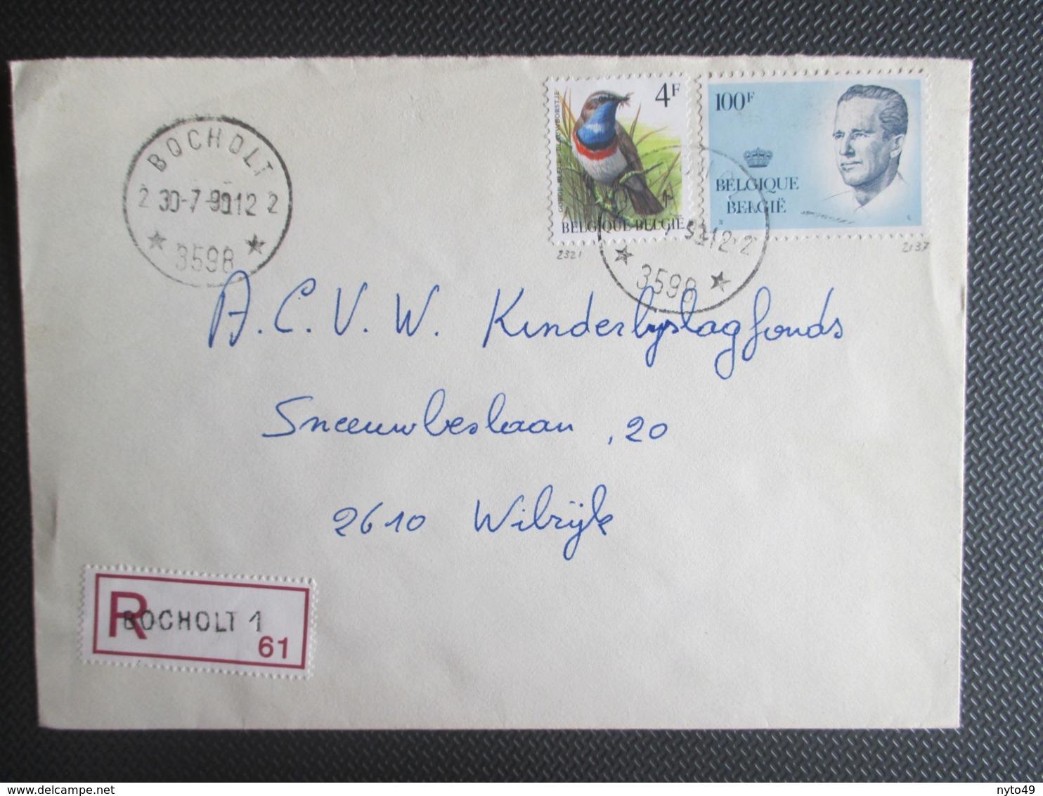 2137 - Velghe - Op Aangetekende Brief Uit Bocholt ( Sterstempel ) - 1981-1990 Velghe