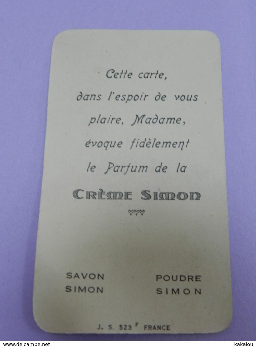 Carte Parfumée CREME SIMON PARIS SAVON POUDRE - Perfume Cards