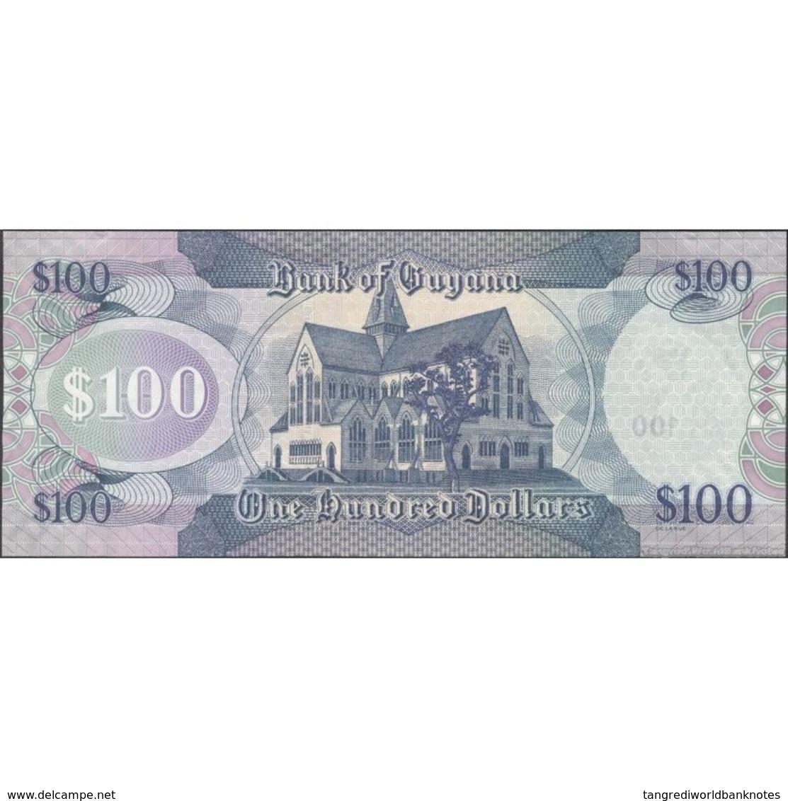 TWN - GUYANA 36b2 - 100 Dollars 2012 Prefix B/57 - Signatures: Williams & A. Singh UNC - Guyana