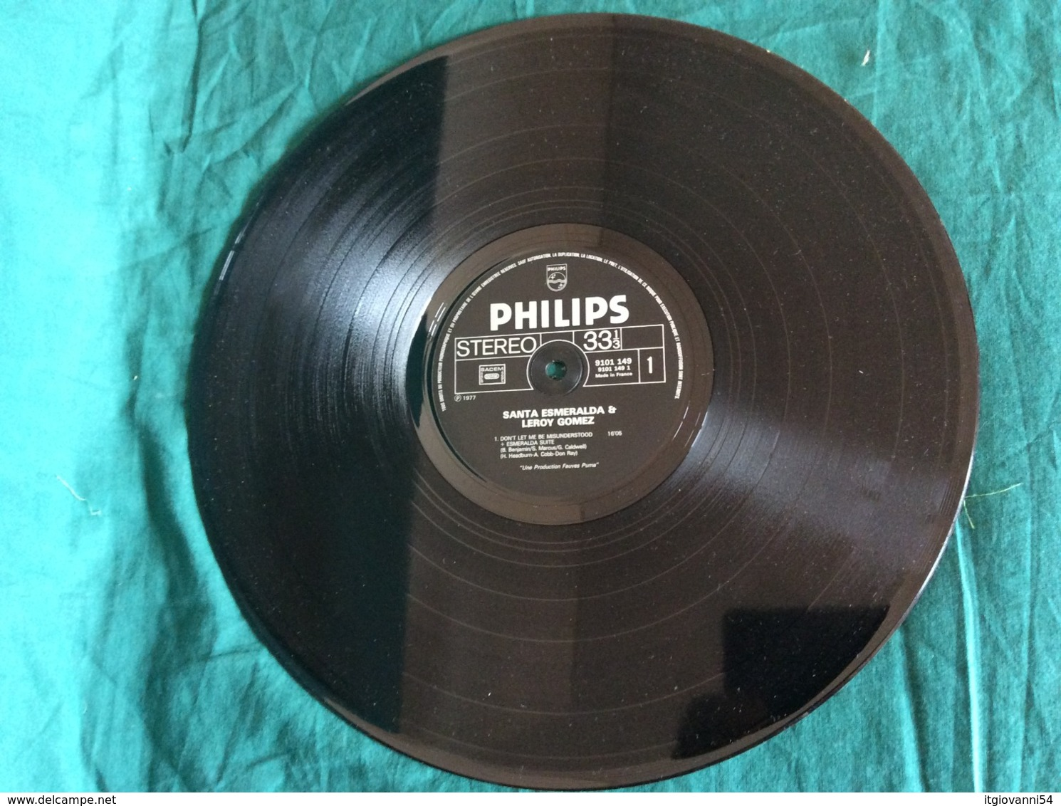 "LP Santa Esmeralda ""Don't Let Me Be Misunderstood"" Philips 1977 - Disco & Pop"