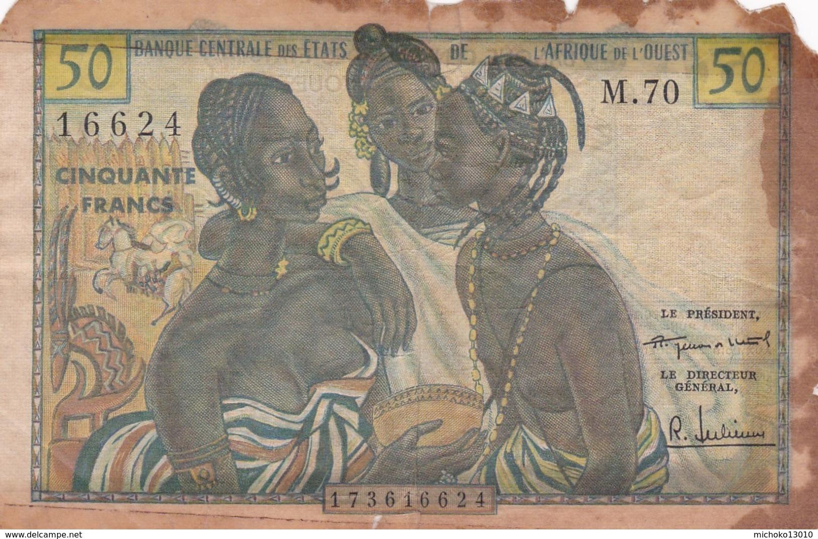 BILLET 50 FRANCS CFA BCEAO PICK 1 RARE VOIR SCAN - West-Afrikaanse Staten