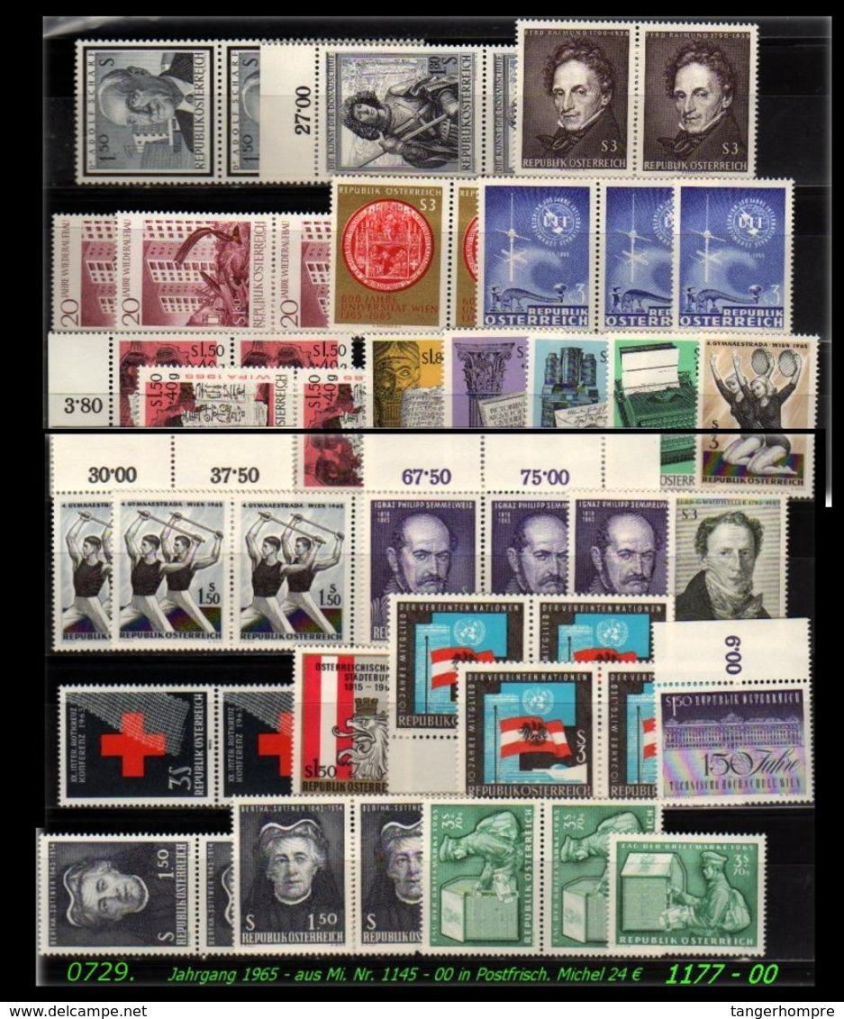 Österreich - Mi. Nr: 1177 - 00 - Aus Postfrischem Jahrgang 1965 - 1945-.... 2. Republik