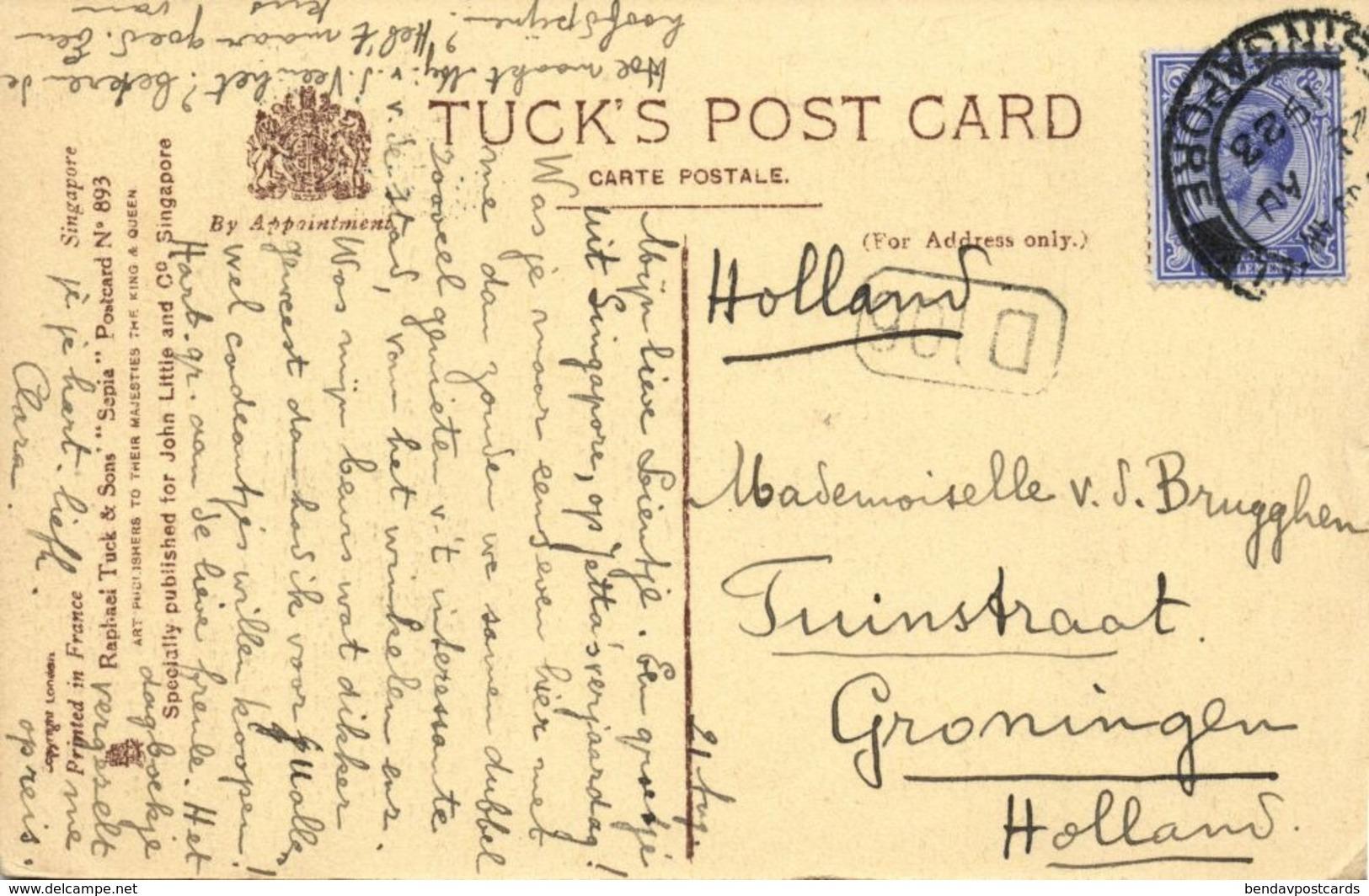 Singapore, Tanjong Paggar (1922) Raphael Tuck Postcard - Singapore