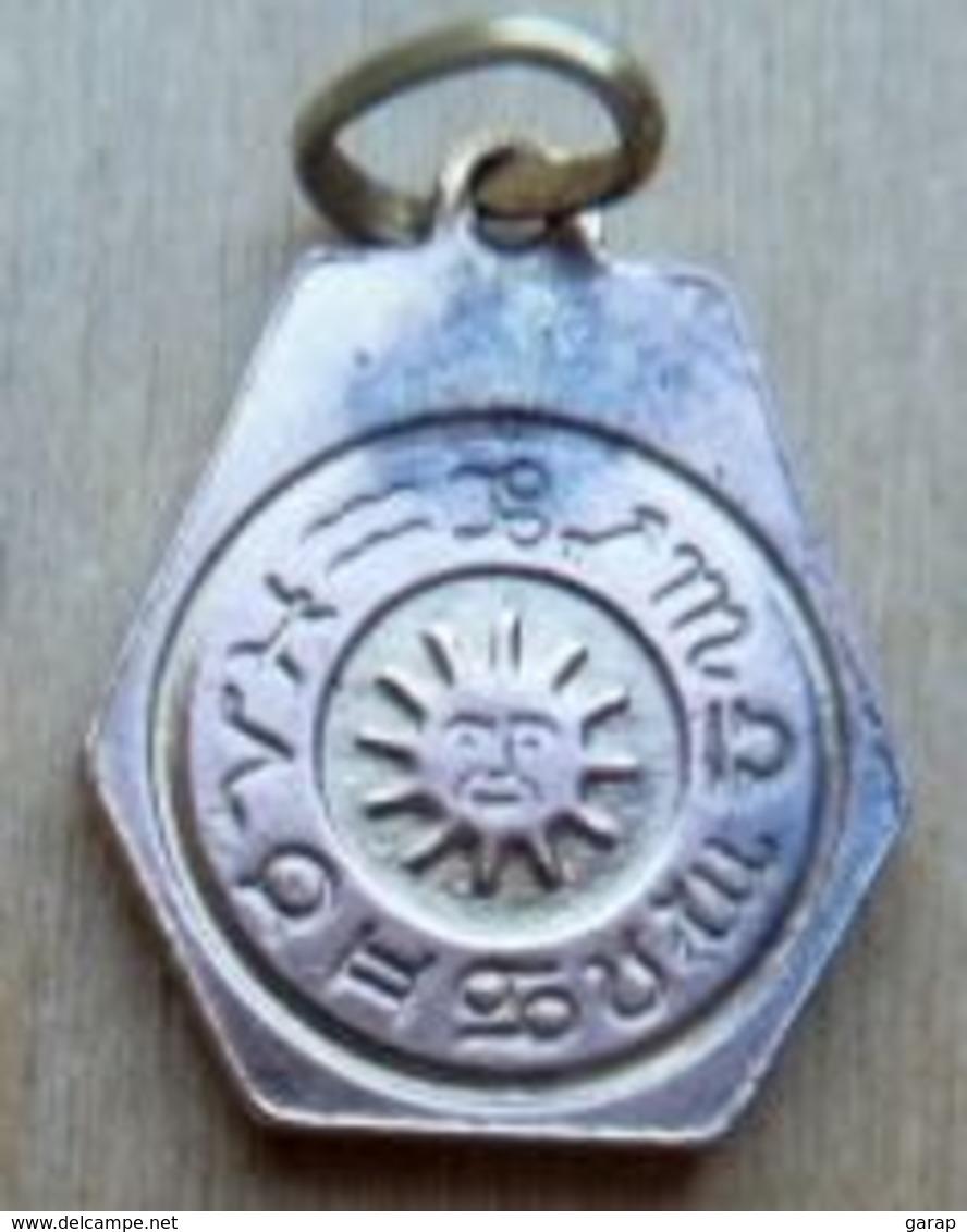 Medz-004 Médaille Zodiac émaillée Bleue,pourtour Cuivré BALANCE - Religion & Esotérisme