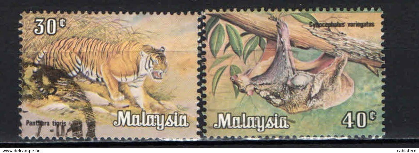 MALESIA - 1979 -  TIGRE E COBEGO - USATI - Malesia (1964-...)