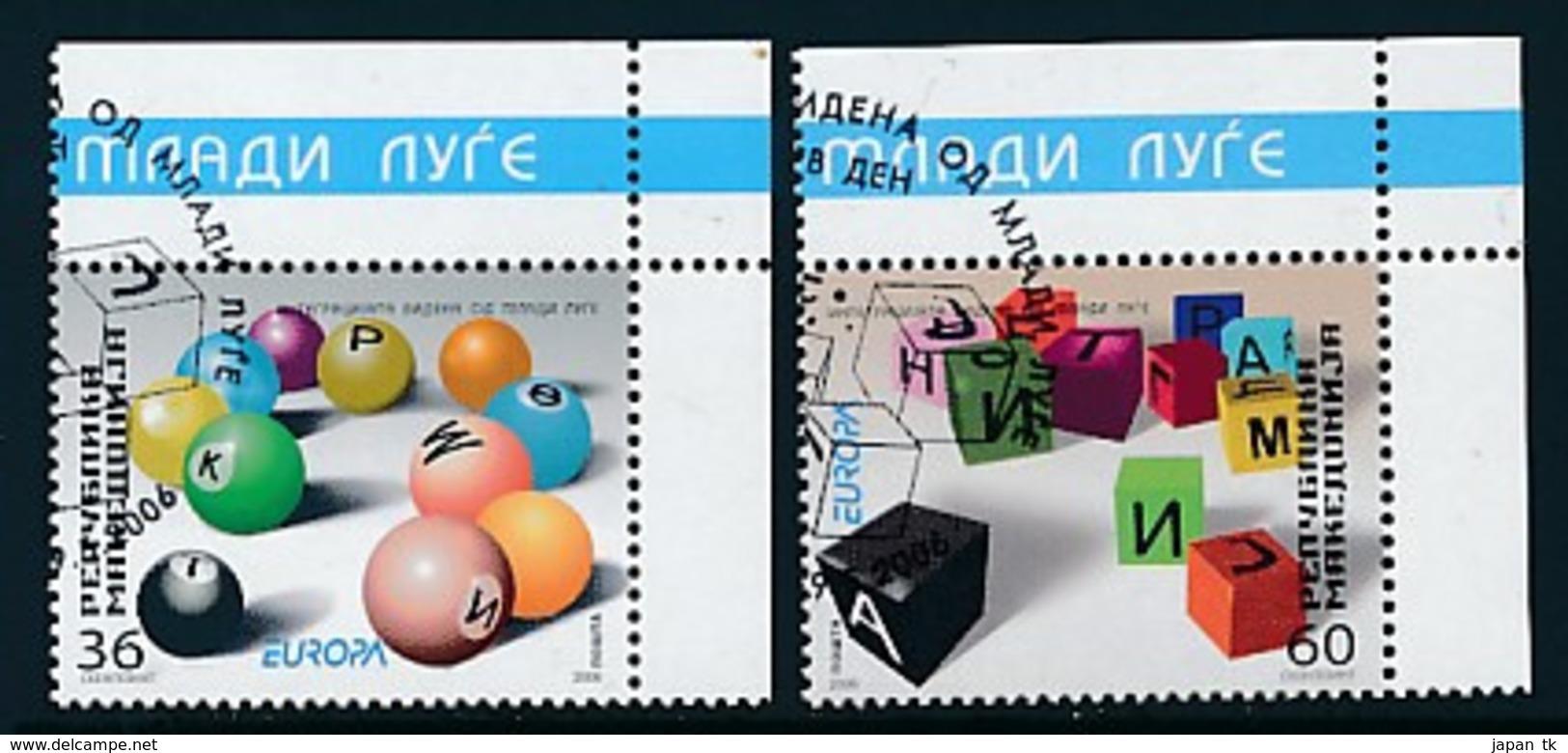 """MAKEDONIEN  Mi.Nr. 388-389   EUROPA CEPT """"Integration"""" 2006 - Used - 2006"""