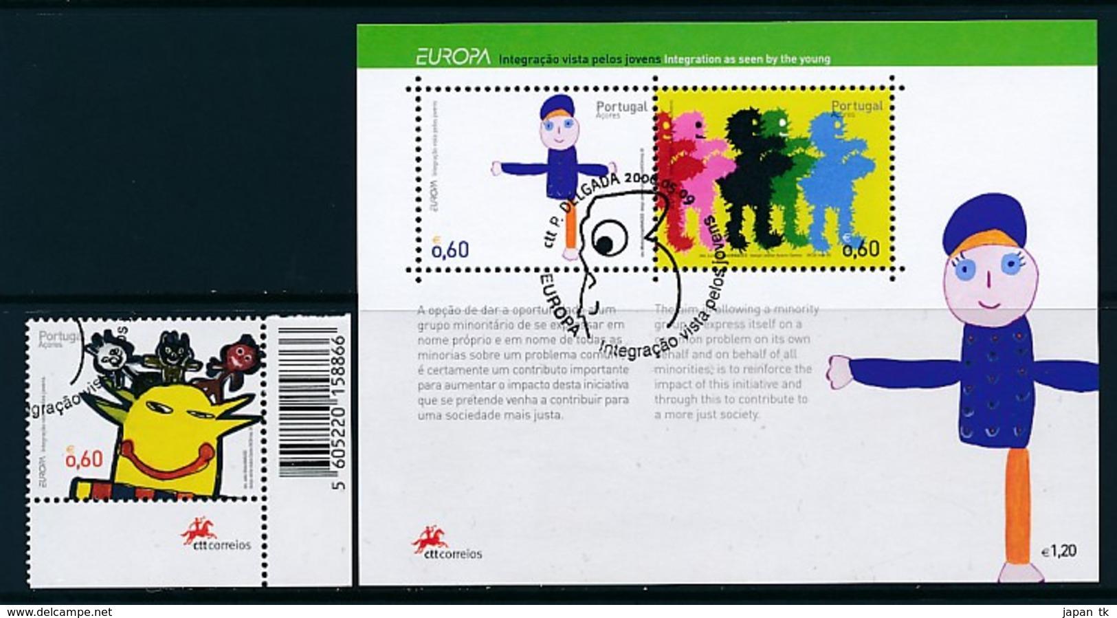 PORTUGAL - AZOREN Mi.Nr. 516 A, Block 30  EUROPA CEPT Integration - 2006 - Used - Europa-CEPT
