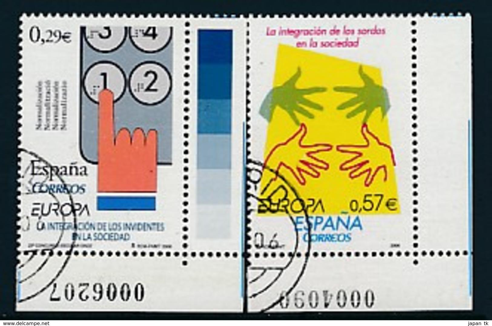 "SPANIEN Mi.Nr. 4156-4157  EUROPA CEPT  ""Integration "" 2006 - Used - Europa-CEPT"