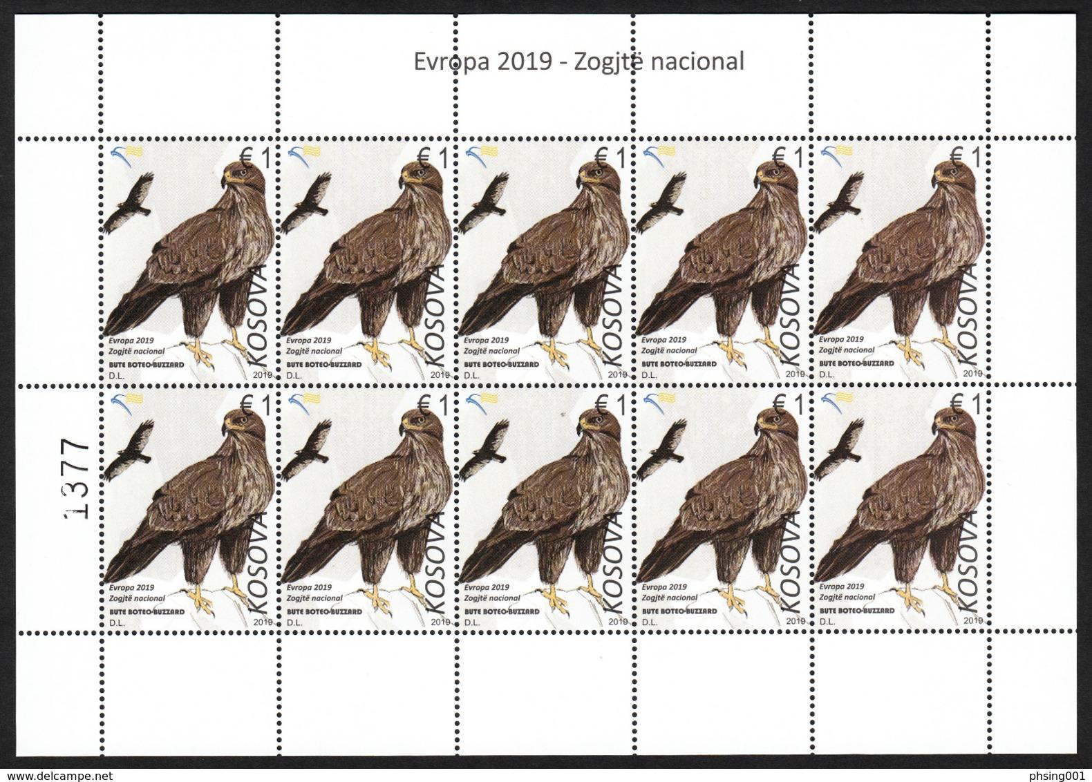 Kosovo 2019 Europa CEPT National Birds Fauna, Mini Sheet MNH - 2019
