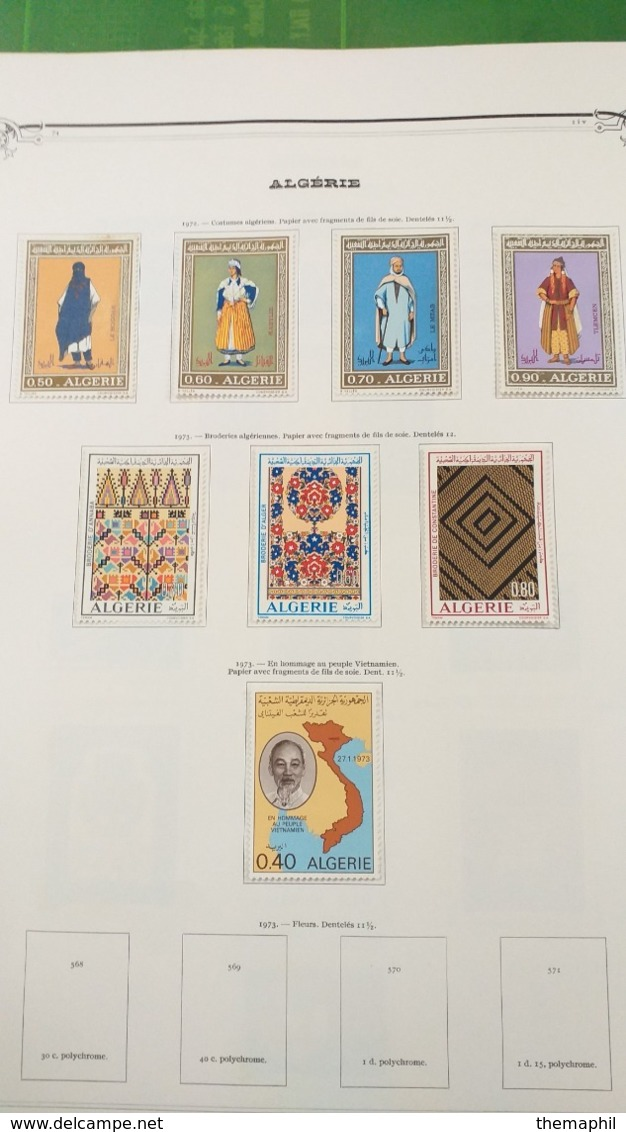 Lot N° TH. 1063  ALGERIE Collection Neufs X Sur Page D'albums Quelques Neufs Xx ( Colles Sur Bord De Feulle ) - Sammlungen (im Alben)