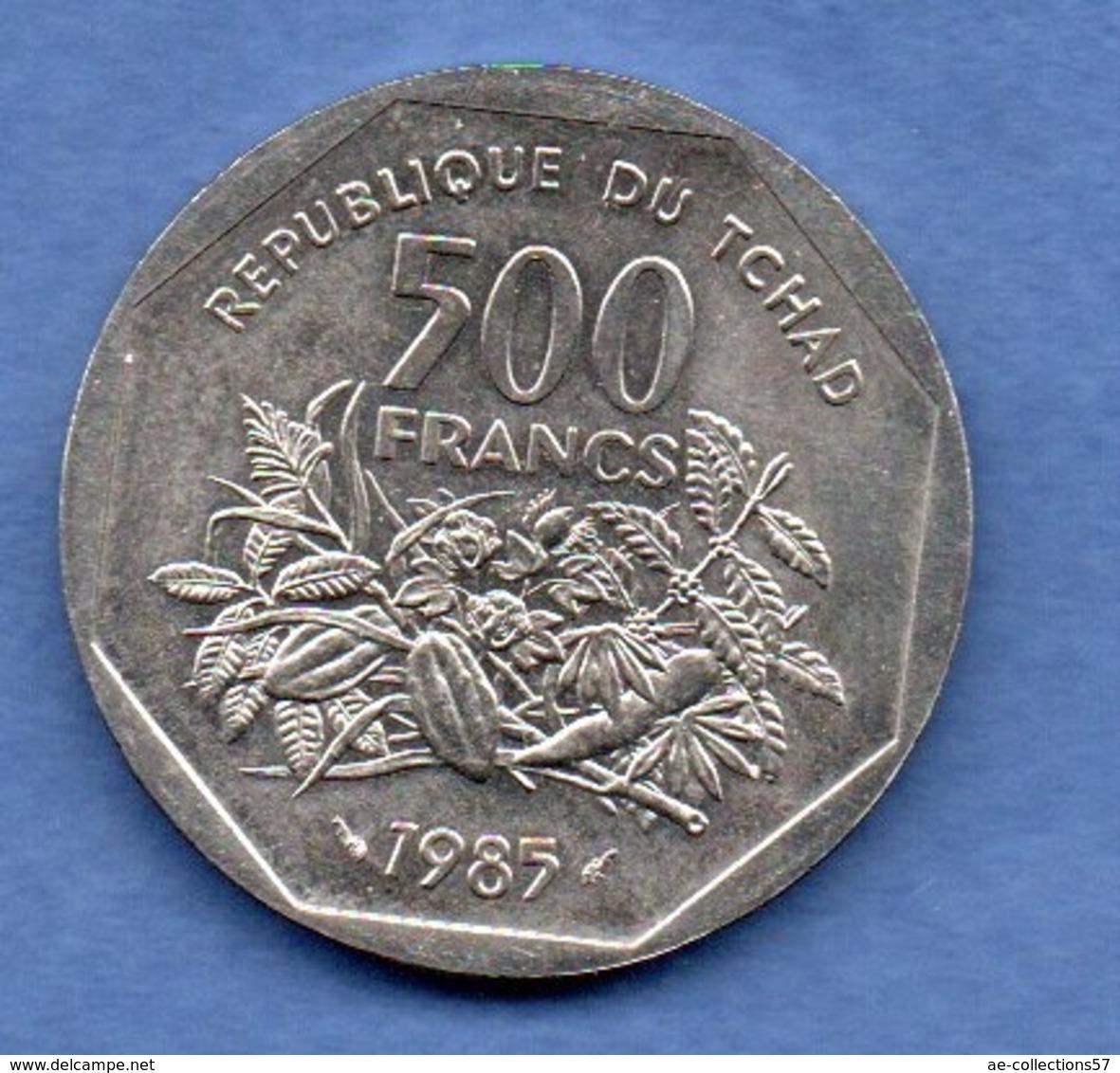 Tchad   -  500 Francs 1985  ESSAI -  état  SPL - Tschad